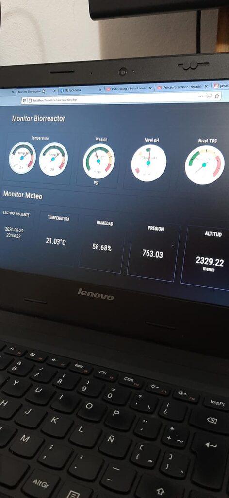 Interface WEB de moitorios de sensores