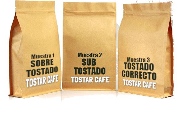 tres bolsas de cafe premium